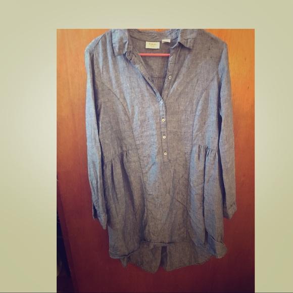 a26c2ec893 Beacan Cove 100% linen tunic dress